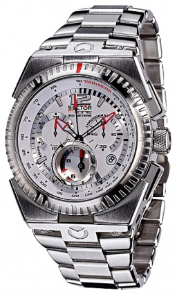 3273 671 045 M-ONE CHR WHITE DIAL/BRACC SP