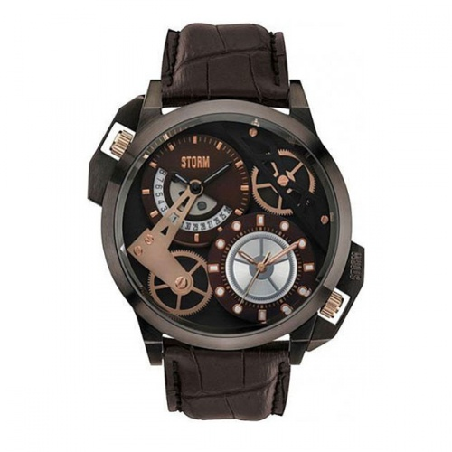 DUALON BROWN LEATHER 47147/BR/BR